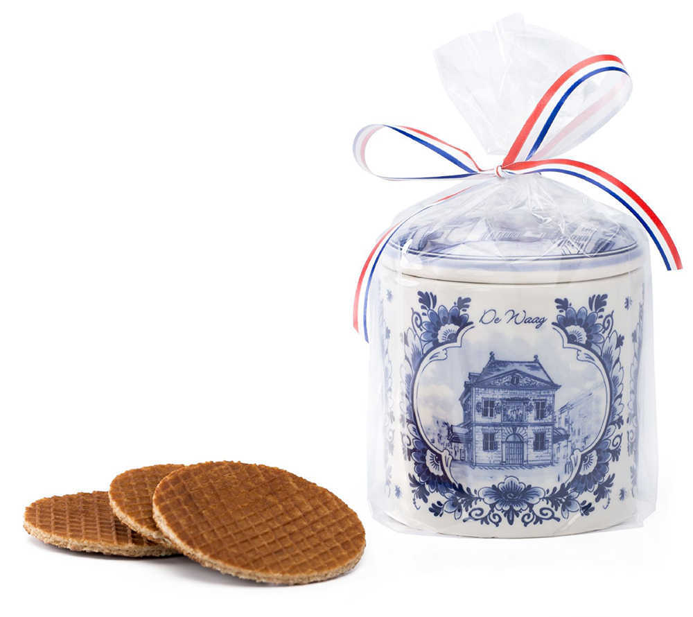 Stroopwafel in pot